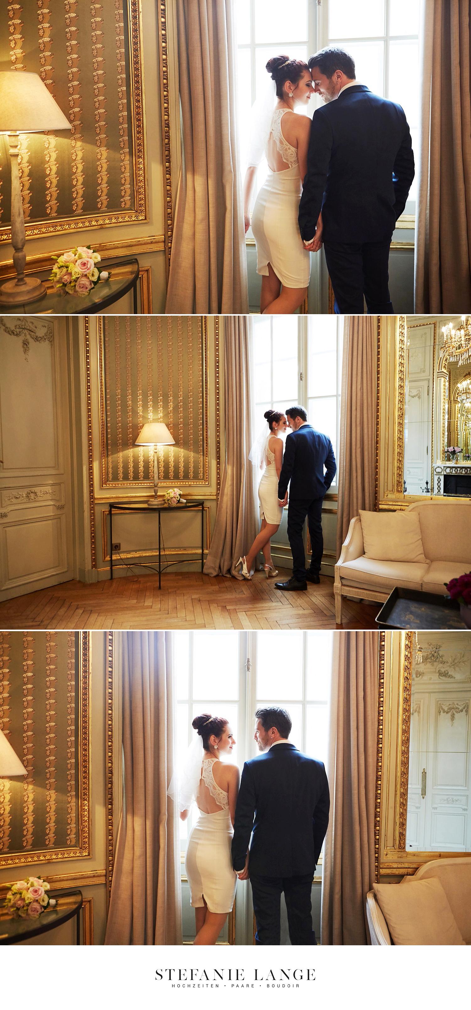 Hochzeit im Patrick Hellmann Schlosshotel Grunewald in Berlin - Hochzeitsfotos vom Brautpaar - Stefanie Lange