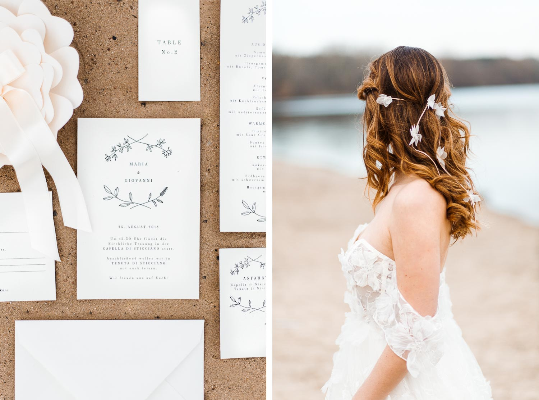 Boho Strand Hochzeit Inspiration mit Achat Scheiben: Papeterie - Stefanie Lange Hochzeitsfotografie