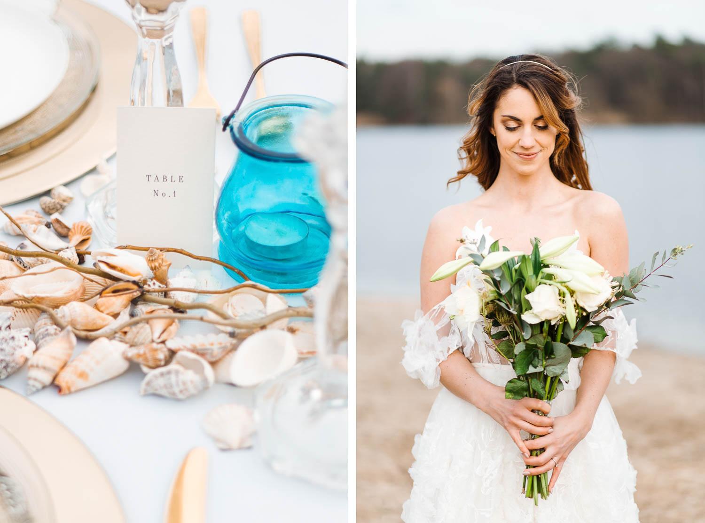 Boho Strand Hochzeit Inspiration mit Achat Scheiben: Portraits der Braut - Stefanie Lange Hochzeitsfotografie