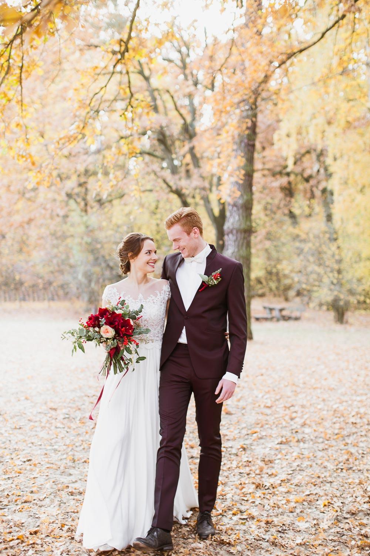 Hochzeitsshooting am Jadghaus Spandau: Brautpaarshooting in Berlin Weihnachten - Stefanie Lange Hochzeitsfotografie