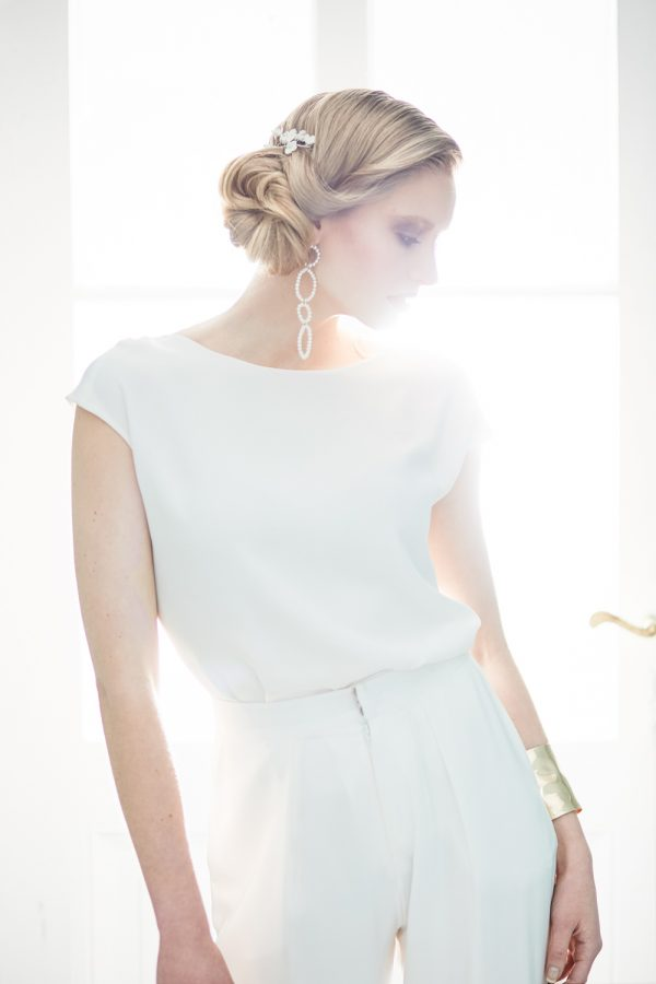 Easy Glam - Bridal Editorial Headpiece - Stefanie Lange
