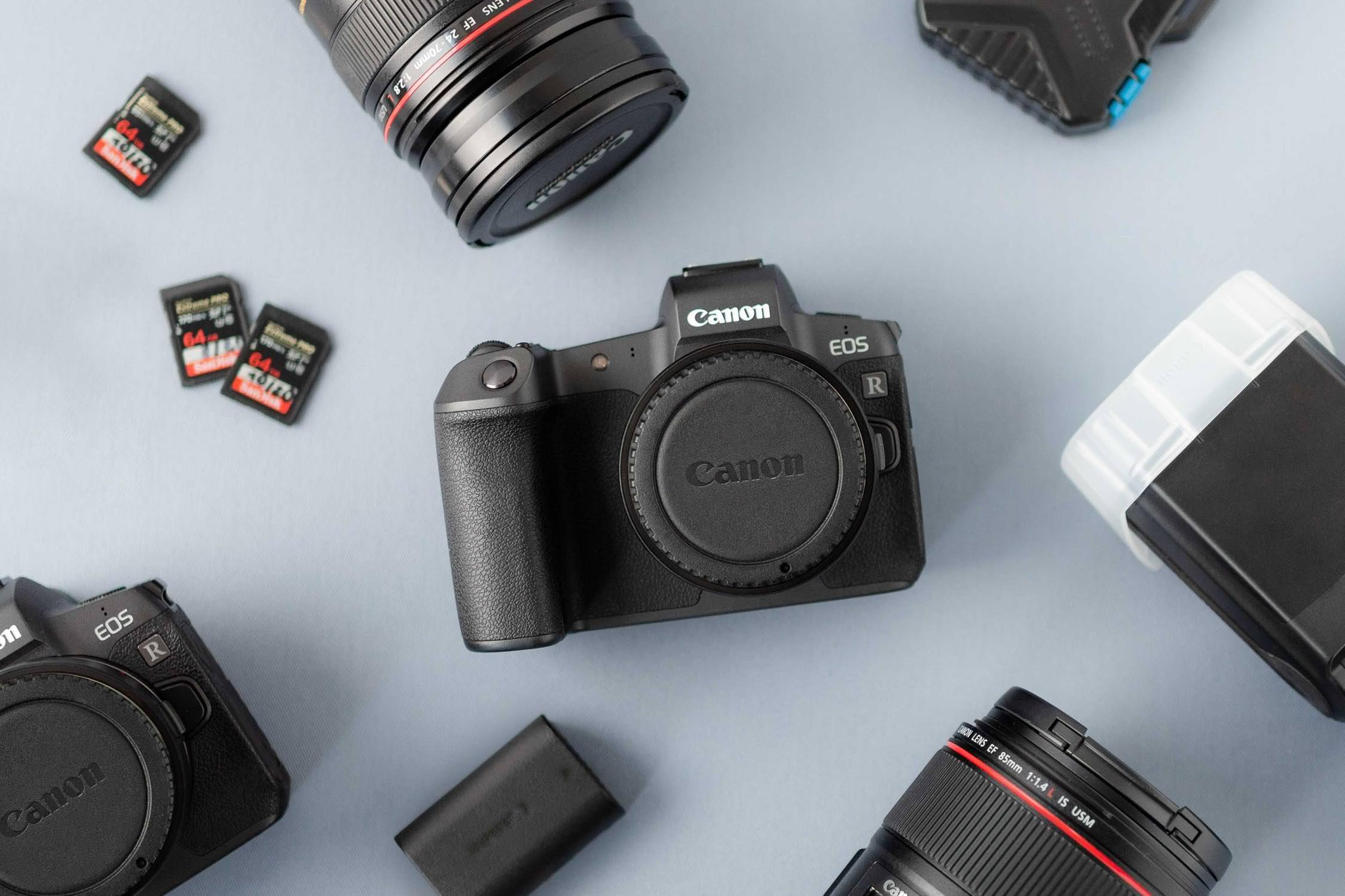 Fotoausrüstung oder Equipment für professionelle Hochzeitsfotografen