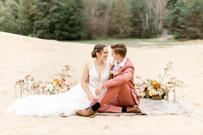 Besondere Boho Hochzeit: Trauung