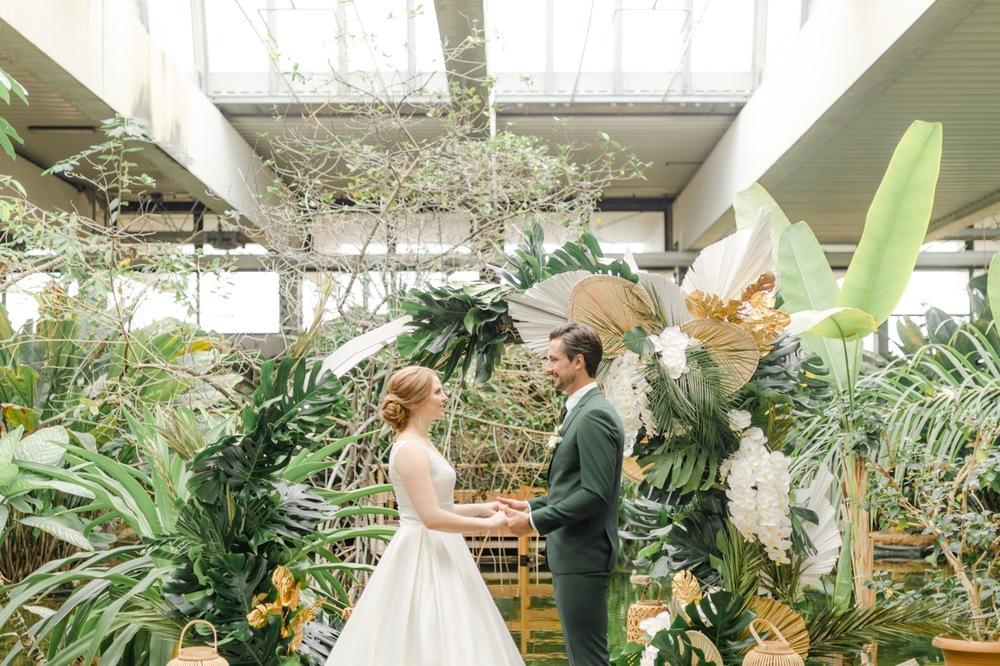 Hochzeit in der Biosphäre Potsdam Trauung