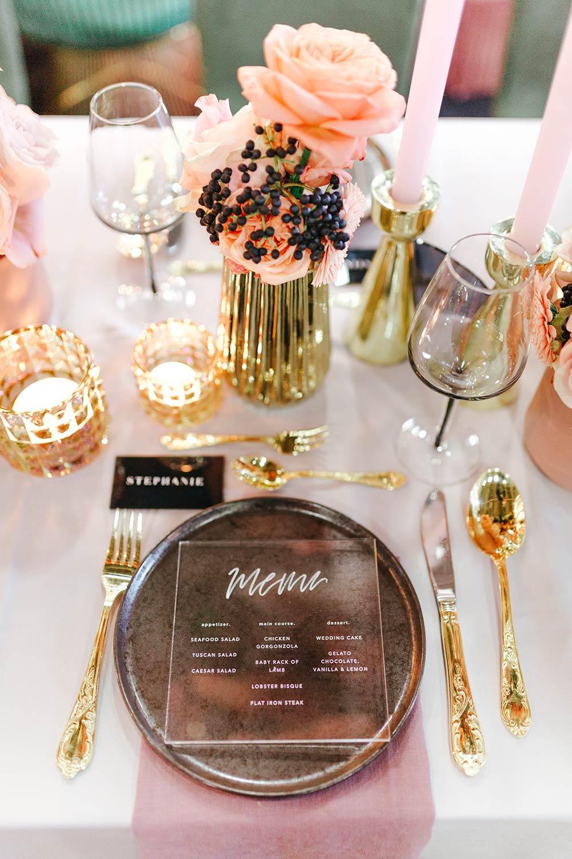 Hochzeitstrends 2019: Acrylglas Papeterie, Hochzeitseinladungen & Menükarten - Stefanie Lange Hochzeitsfotografie