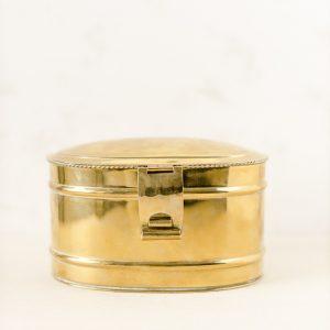 "Aufbewahrungsbox ""Truhe"" - gold"