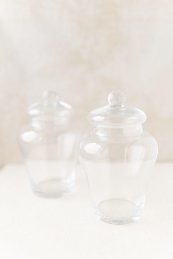 Bonboniere Glas mit Deckel, klein