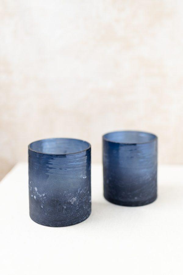 Glasvase - blau