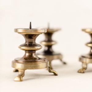Kerzenständer Blockkerzen - Messing, gold