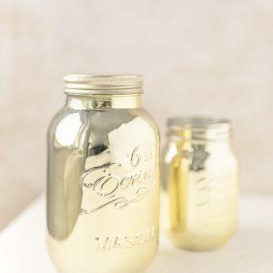 Masongläser Vase - gold