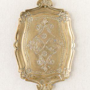 Messing Tablett Antik, kleines - gold