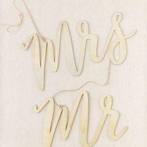 """""""Mr & Mrs"""" Stuhlanhänger - gold"""