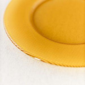Platzteller - Glas gelb