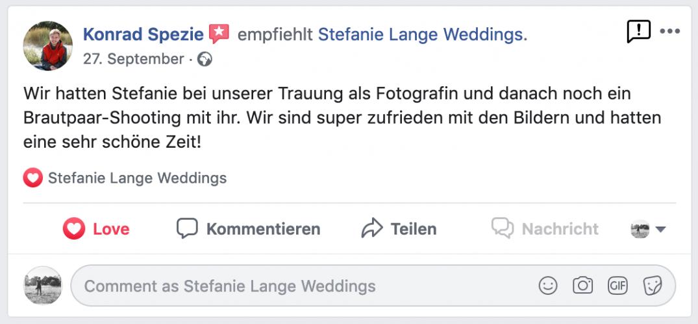 Empfehlungen Hochzeitsfotograf Berlin