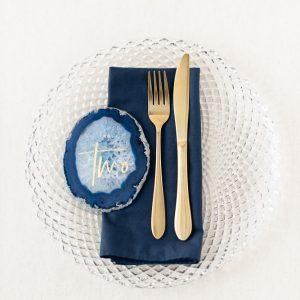 """Servietten """"Hochzeit"""" - blau"""