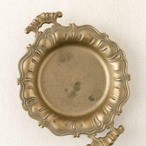 Messing Tablett Antik, rund - gold
