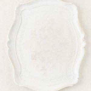 Tablett Antik - weiß