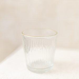 Teelichtglas Goldrand