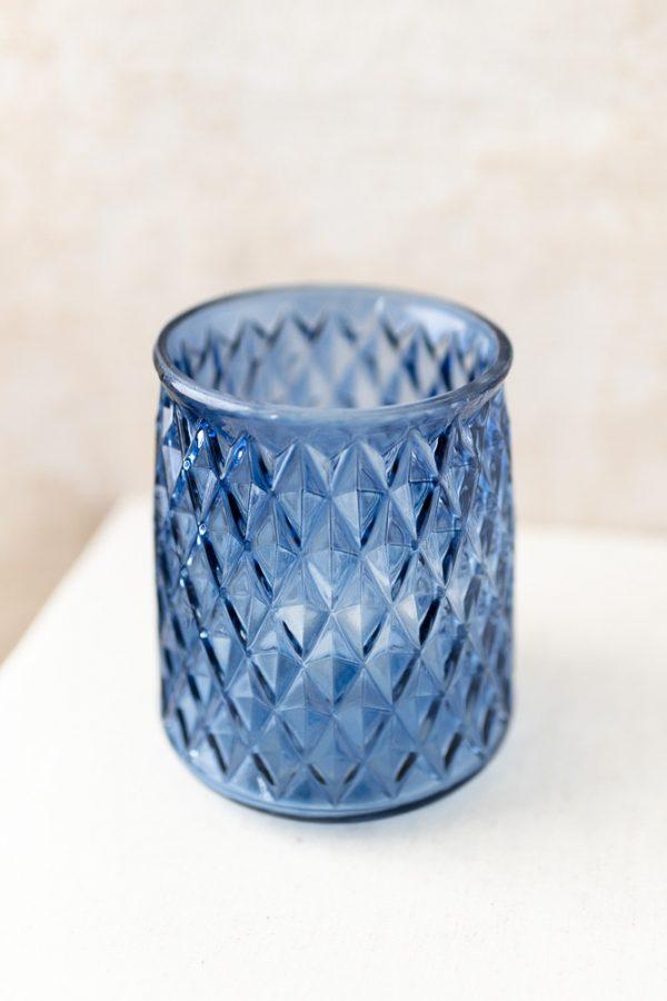 Vase - Glas blau